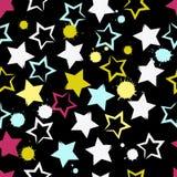Modelo inconsútil geométrico lindo El strokesand del cepillo protagoniza y borra Textura dibujada mano del grunge Formas abstract Fotografía de archivo