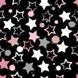 Modelo inconsútil geométrico lindo El strokesand del cepillo protagoniza y borra Textura dibujada mano del grunge Formas abstract Fotografía de archivo libre de regalías
