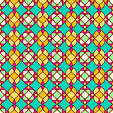modelo inconsútil geométrico Modelo inconsútil Fondo amarillo verde Foto de archivo libre de regalías