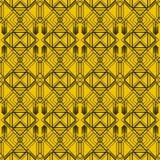 Modelo inconsútil geométrico moderno del vector Sistema de fondos inconsútiles de oro libre illustration
