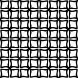 Modelo inconsútil GEOMÉTRICO negro en el fondo blanco Fotos de archivo