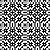 Modelo inconsútil GEOMÉTRICO negro en el fondo blanco Imagenes de archivo