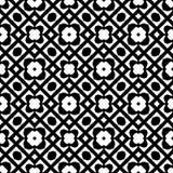 Modelo inconsútil GEOMÉTRICO negro en el fondo blanco Imagen de archivo libre de regalías