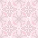 modelo inconsútil geométrico Palidezca - el diseño ornamental rosado Imagenes de archivo