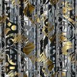 Modelo inconsútil geométrico rayado moderno abstracto Flora del vector stock de ilustración