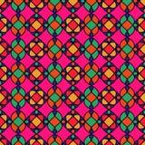 Modelo inconsútil geométrico retro abstracto Fondo rosado Foto de archivo libre de regalías