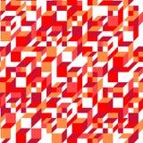 Modelo inconsútil geométrico rojo del vector Foto de archivo libre de regalías