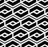 Modelo inconsútil geométrico texturizado extracto blanco y negro Sy Imagen de archivo
