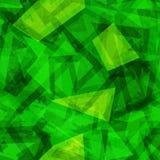 Modelo inconsútil geométrico verde Foto de archivo libre de regalías