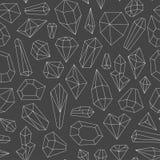 Modelo inconsútil hecho de cristales stock de ilustración