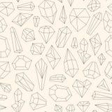 Modelo inconsútil hecho de la línea cristales del arte libre illustration