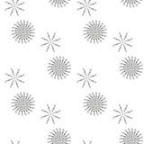 Modelo inconsútil hermoso con el círculo del copo de nieve Ilustración del vector Fondo del invierno por la Navidad o el Año Nuev ilustración del vector