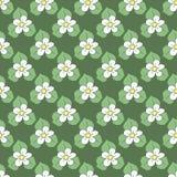 Modelo inconsútil hermoso con las flores Ilustración del vector Diseño del verano stock de ilustración