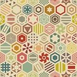 Modelo inconsútil hexagonal Fotos de archivo