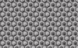 Modelo inconsútil hexagonal Greyscale Textura industrial, vecto Imagenes de archivo