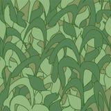 Modelo inconsútil, hojas verdes de la caña del camuflaje para las telas, papeles pintados, manteles, impresiones y diseños abstra ilustración del vector