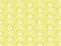 Modelo inconsútil honeycombsgeometric de la abeja estilizada Imagen de archivo libre de regalías