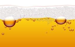 Modelo inconsútil horizontal de la burbuja de la cerveza del vector stock de ilustración