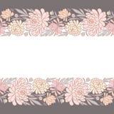 Modelo inconsútil horizontal floral Fotografía de archivo libre de regalías