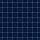 Modelo inconsútil II del punto de los azules marinos del vector Fotos de archivo