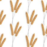 Modelo inconsútil Ilustración del vector Diseño del ejemplo del icono del vector del fondo del trigo de la agricultura cebada libre illustration