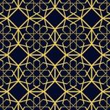 Modelo inconsútil islámico Belleza y fondo repetido moda Diseño árabe de lujo Contexto abstracto de la plantilla del oro adentro ilustración del vector