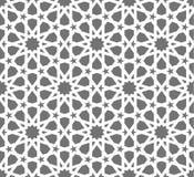Modelo inconsútil islámico del vector Ornamentos geométricos blancos basados en arte árabe tradicional Mosaico musulmán oriental stock de ilustración