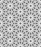 Modelo inconsútil islámico del vector Ornamentos geométricos blancos basados en arte árabe tradicional Mosaico musulmán oriental Imagen de archivo