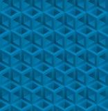 Modelo inconsútil isométrico de los cubos azules libre illustration
