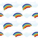 Modelo inconsútil lindo con el arco iris libre illustration