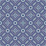 Modelo inconsútil magnífico del remiendo de las tejas marroquíes, portuguesas azul marino y blancas, Azulejo, ornamentos texturas libre illustration
