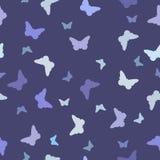 Modelo inconsútil, mariposa azul Imágenes de archivo libres de regalías