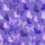 Modelo inconsútil, mariposas transparentes Imagen de archivo