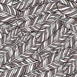 Modelo inconsútil marrón en colores pastel con las plumas Elementos styles Gráfico del vector libre illustration