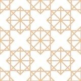 Modelo inconsútil marrón y blanco geométrico para las telas Fotografía de archivo libre de regalías