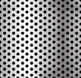 Modelo inconsútil metálico perforado del vector Imagen de archivo libre de regalías
