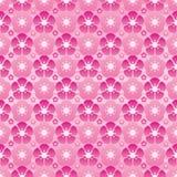Modelo inconsútil moderno de la página completa de la simetría de la flor de la cereza stock de ilustración