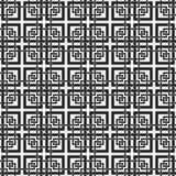 Modelo inconsútil monocromático con los elementos geométricos Foto de archivo libre de regalías