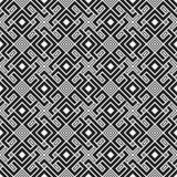 Modelo inconsútil monocromático con los elementos geométricos Imágenes de archivo libres de regalías