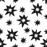 Modelo inconsútil monocromático del drenaje de la mano de las estrellas de la Navidad Foto de archivo libre de regalías