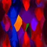 Modelo inconsútil - movimientos coloridos del cepillo Tonos rosados Imágenes de archivo libres de regalías