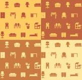 Modelo inconsútil: muebles. Imagen de archivo libre de regalías