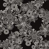 Modelo inconsútil negro Imagen de archivo libre de regalías