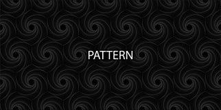 Modelo inconsútil Negro - espiral rombal blanco para su diseño stock de ilustración