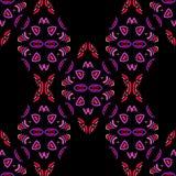 Modelo inconsútil oriental Repetición del ornamento en colores profundos VE Imagenes de archivo