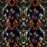 Modelo inconsútil ornamental colorido de Paisley Parte posterior floral del vector Fotos de archivo libres de regalías