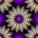 Modelo inconsútil ornamental colorido floral Mandalas brillantes del vector del estilo étnico redondo Flores multicoloras de la e stock de ilustración