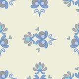 Modelo inconsútil ornamental floral azul claro Fotografía de archivo libre de regalías