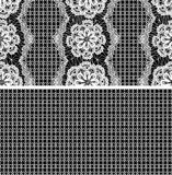 Modelo inconsútil - ornamento floral del cordón Fotos de archivo