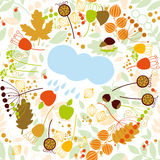 Modelo inconsútil, otoño, lluvia Fotografía de archivo